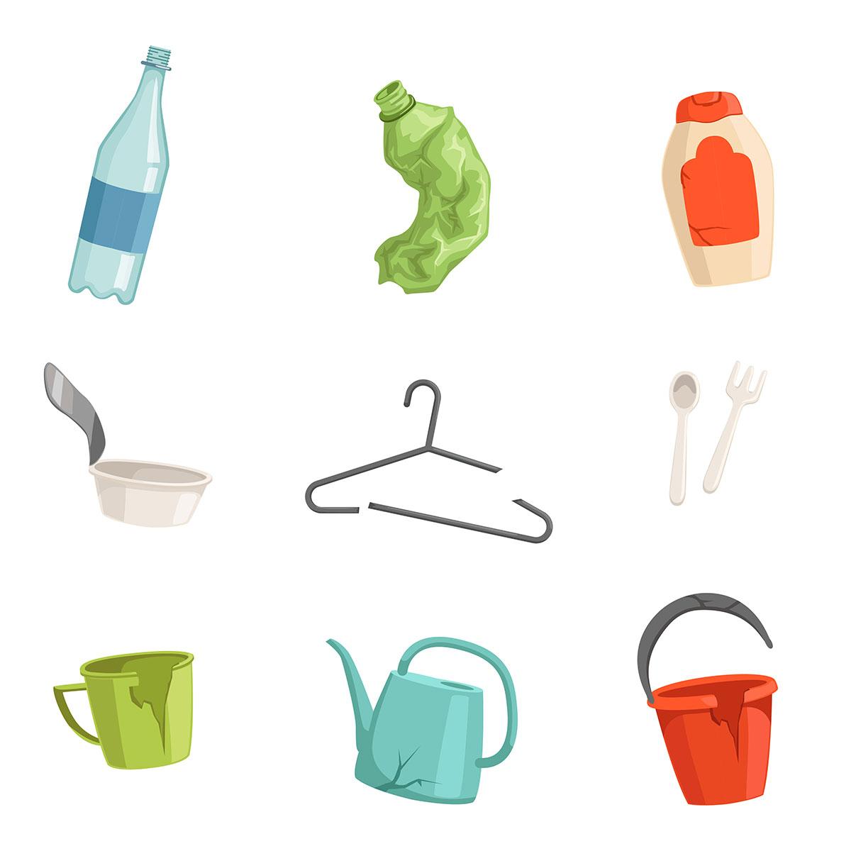 マイクロプラスチックのもとになるプラスチックの種類