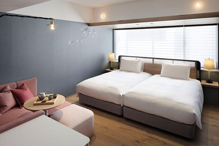 GOOD NATURE HOTEL KYOTOにおけるウォータースタンド設置